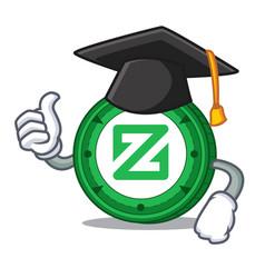 Graduation zcoin character cartoon style vector