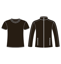 Jacket and T-shirt template vector image vector image
