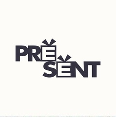 Logo of box with gift or present vector