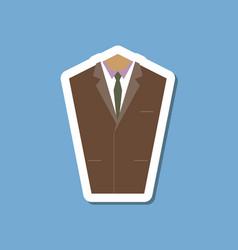 paper sticker on stylish background mans jacket vector image