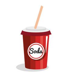 soda glass drink icon vector image