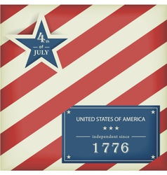 Stars and Stripes in red blue vector image