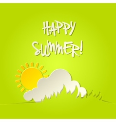 Sunny happy summer bacground card vector image