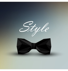 a black bow tie in low-polygonal style men fashion vector image