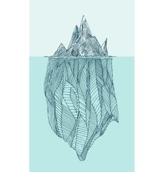 Iceberg Vintage Engraved Hand Drawn vector image