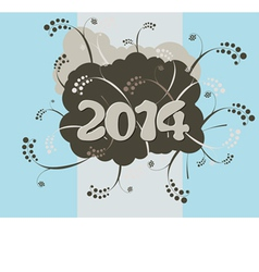 2014 - Happy New Year card in urban style vector image