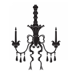Baroque elegant ornamented wall lamp vector