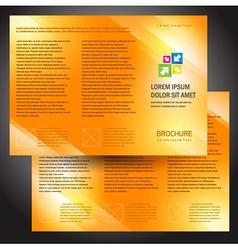 brochure folder colorful design orange vector image