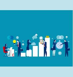 business start up concept cartoon vector image
