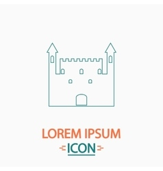 Castle computer symbol vector