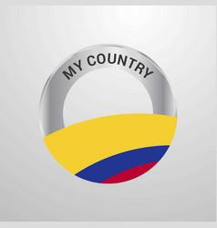 colombia my country flag badge vector image