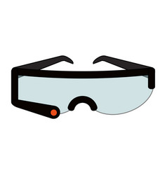 colorful graphic smart glasses wearable technology vector image