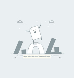 Design 404 error page is lost and not found vector