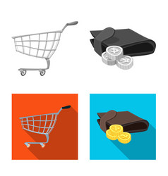 Design of food and drink sign set of food vector