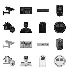 Design of office and house icon set of vector
