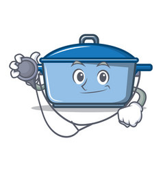 doctor kitchen character cartoon style vector image
