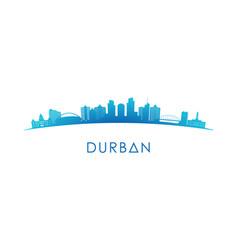 Durban skyline silhouette design colorful vector