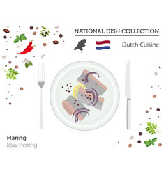 Dutch cuisine european national dish collection vector