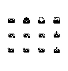 Email icons on white background vector