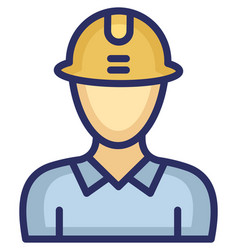 Engineer icon which can easily modify or e vector