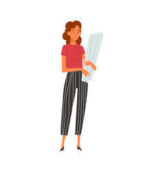 female architect character professional vector image