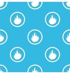 Fire sign blue pattern vector