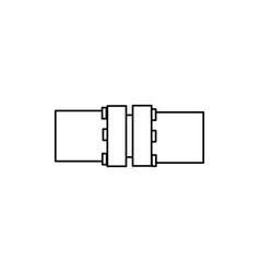 flange icon vector image