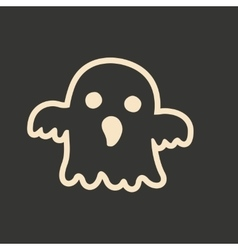 Flat in black and white mobile application ghost vector