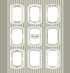 Frame design decorate element set 4 vector