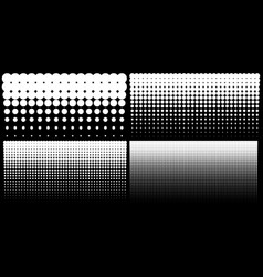 Halftone set of vertical gradient dots backgrounds vector