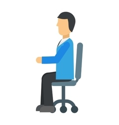 Happy young business man work in modern office on vector