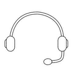 Headset support helpline communication equipment vector