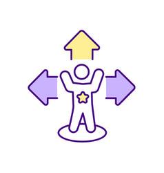 Hero improvement process rgb color icon vector