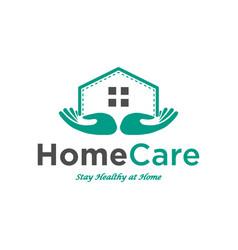 home care logo design inspiration vector image