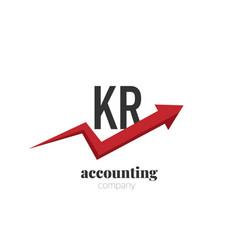 initial letter kr creative finance - money vector image