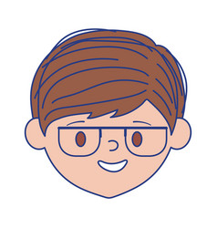 Isolated avatar man head with glasses vector