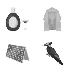 Nature trade tourism and other monochrome icon vector