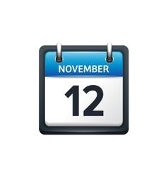 November 12 calendar icon vector