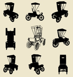 old car silhouette vector image