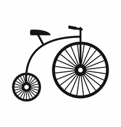 Penny-farthing icon simple style vector