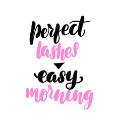 Perfect lashes - easy morning vector