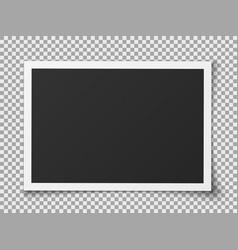 photo portrait frame vintage blank realistic vector image