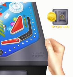 Pinball desk composition vector