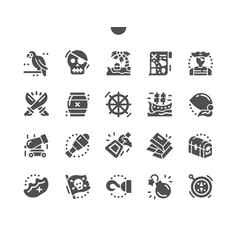 Pirate adventure sailboat ship treasure chest vector