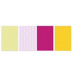 polka dot pattern baby background vector image