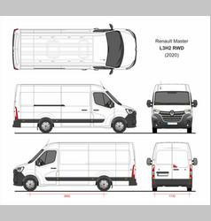 Renault master cargo delivery van l3h2 rwd 2020 vector