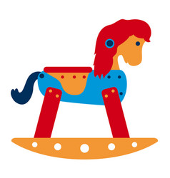 rocking horse toy vector image