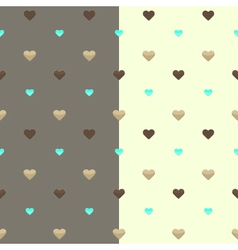 Seamless heart pattern two colours vector
