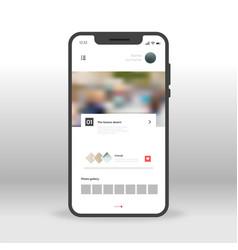 social network profile ui ux gui screen for vector image