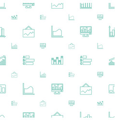 statistic icons pattern seamless white background vector image